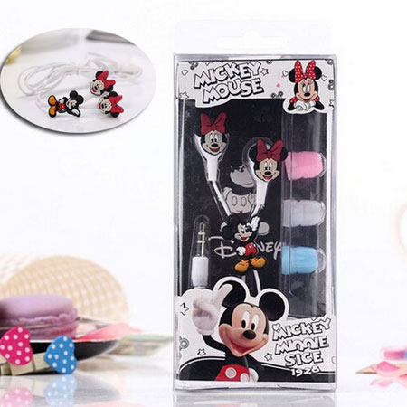 Cartoon Earphone Cute Minnie Mickey Mouse Headset 3 5mm In ear Earbuds for iPhone Xiaomi Cellphone