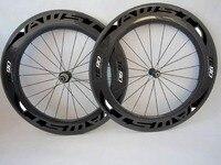 1pair 88mm Road Bike Carbon Wheels H ED Road Clincher Wheels 700C Bike Wheelsets 23mm