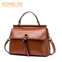 POMELOS Women Handbag Split Leather Shoulder Bag Fashion Lux