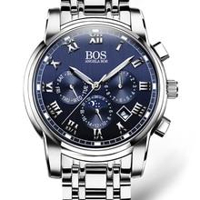 New Business Steel Quartz Watch Men Date Week Month Waterproof Luminous Mens Watches Top Brand Luxury Relogio Masculino