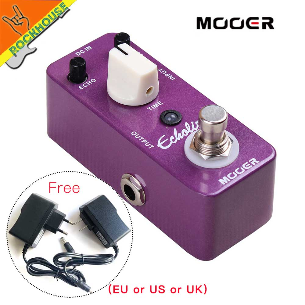 MOOER Echolizer Guitar Echo Delay Effects Pedal Analog Delay Sound 600ms Dealy Time Warm Nature Tone True Bypass free shipping free shipping new guitar effect pedal mooer ana echo analog delay pedal pedal true bypass