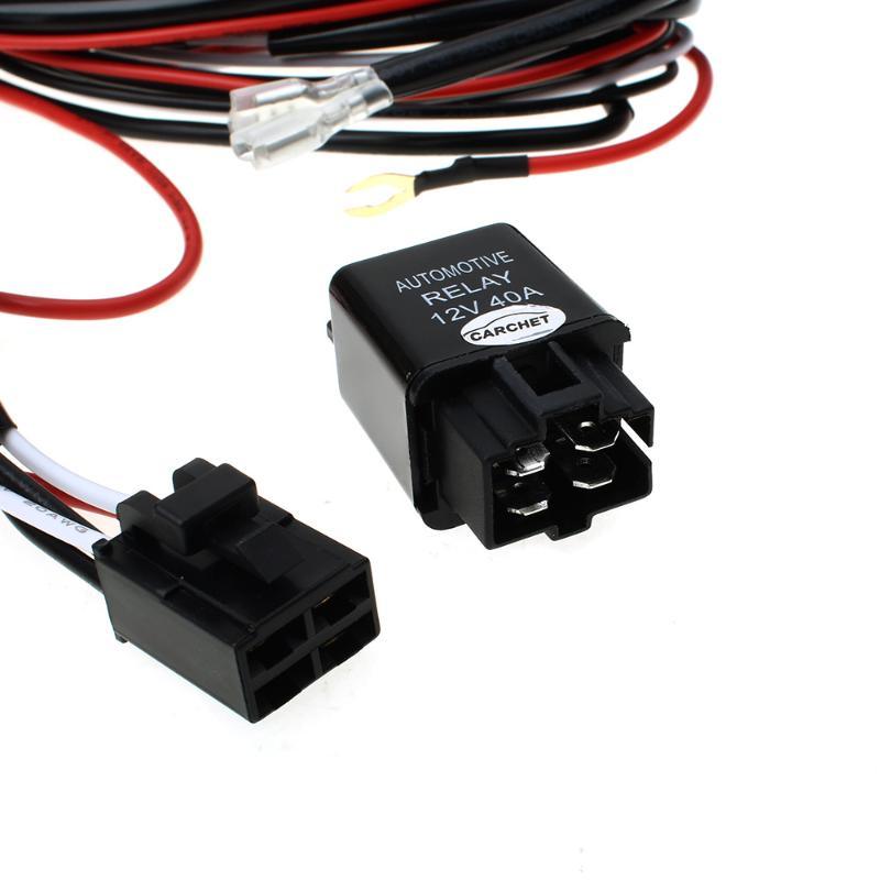 CARCHET LED HID Work Driving Light Wiring Harness Kit 12V 40A Switch Relay