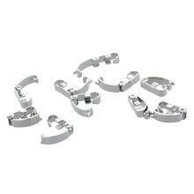 10 x stainless steel Jewelry Wrist Watch Bracelet Band Fold Over Clasps 0.4×0.1″