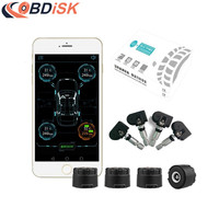 Newly Bluetooth 4 0 TPMS Systems Car Tire Pressure Monitoring System APP Display With 4 Internal