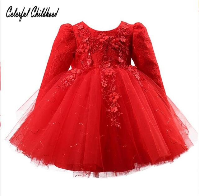 467962ee3b6 2-12Y enfant en bas âge bébé filles Tutu Crochet dentelle robe à manches  longues