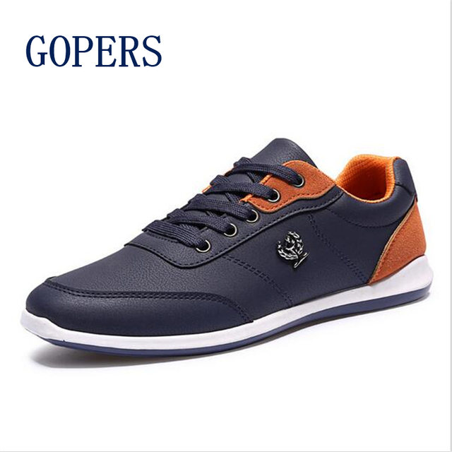 Nuevos 2016 Hombres Zapatos de Los Hombres de Moda Zapatos Casuales hombres zapatos para caminar Al Aire Libre Negro Azul