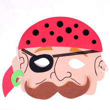 Pack of 20  Pirates Masks Stage Performance Family Game Props Party Supplies Halloween Christmas