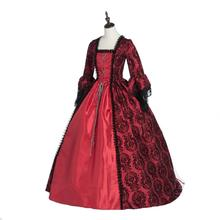 Top Sale Red Masked Ball Gothic Victorian Dress Period Gown