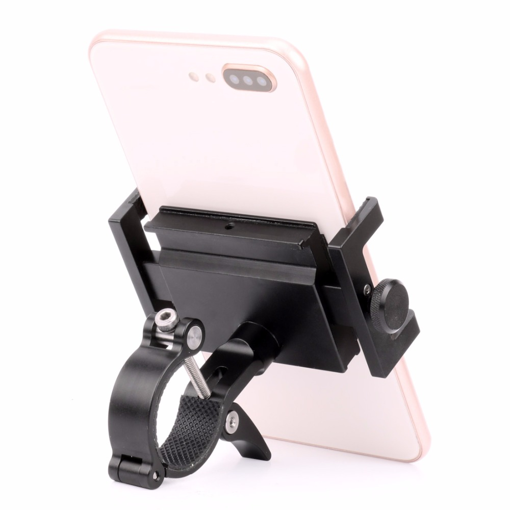 Upgraded Rotatable Bicycle Phone Holder Anti-Theft Aluminum Alloy MTB Road Bike Phone Stand Handlebar Cycling Phone Mount