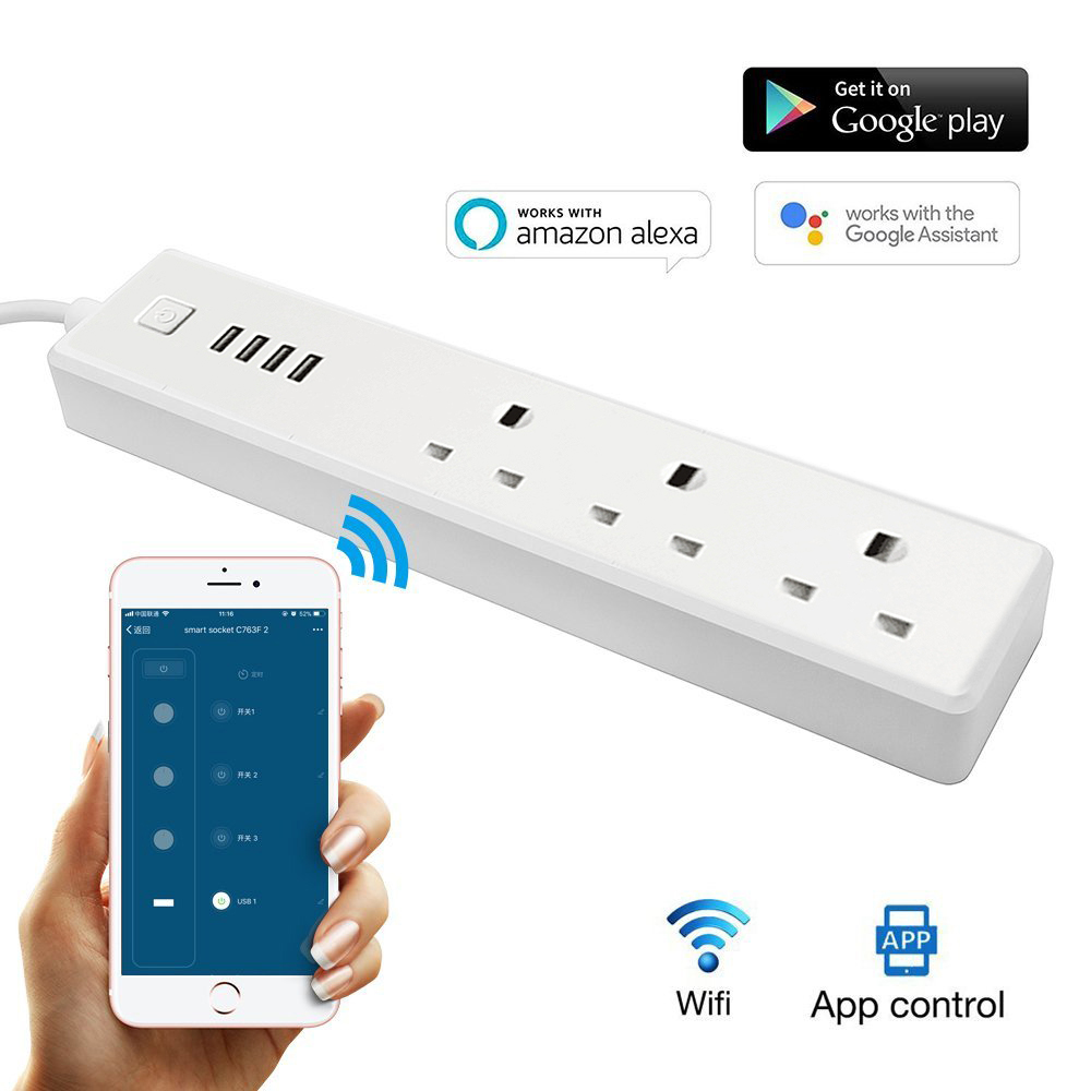 Accessories & Parts Electrical Sockets & Plugs Adaptors Punctual Universal Wifi Smart Wall Socket 13a Outlet Glass Panel French App Remote Control Works With Amazon Echo Alexa Google Home