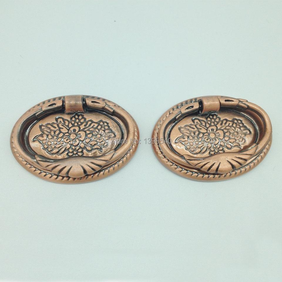 6 Tiny Elephant Shape Pulls Handles Antique Solid Brass Vintage Drawer Knob 30mm Antiques