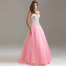 Elegant Lace Strapless Dress Sequin Sexy Women Sleeveless Bridesmaids Patchwork
