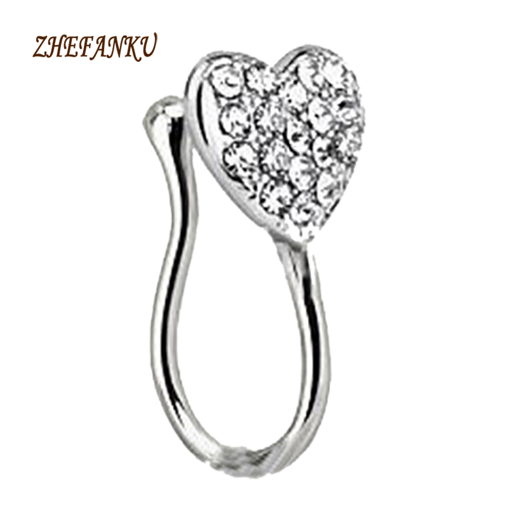 2017 Gold Silver Color Fake Nose Ring For Women Body Clip