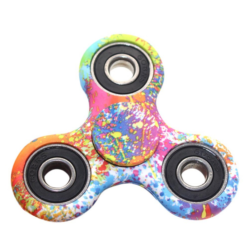 Colorful ABS Children Toy EDC Three Corner Hand font b Spinner b font For Autism and