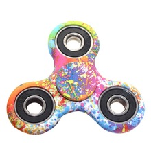 Colorful ABS Children Toy EDC Three Corner Hand Spinner For Autism and ADHD Anxiety Stress Relief Focus Toys Kids Gift