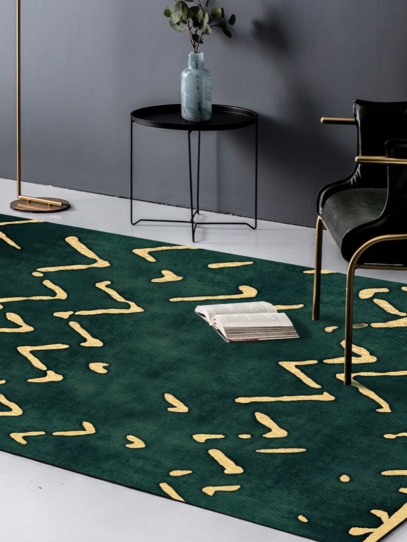 Creative Gold Geometric Lines Green Area Rugs Bedroom Living Room Decor Large Carpet Sofa Tea Table Non Slip Floor Mats Tapete Carpet Aliexpress