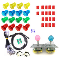 Free Delivery DIY Arcade Game Suit of LED joystick Chip joystick USB Chip LED joystick PC PS 3 2 in 1 USB Driver 2 player