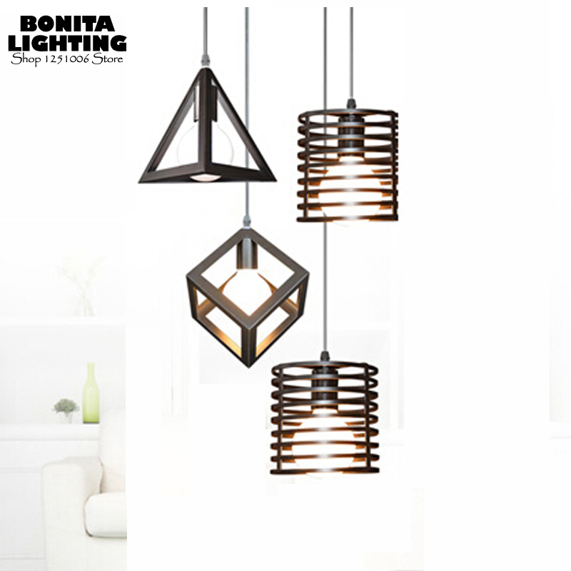 Nordic Iron cord pendant lamp modern Triangle/Cylinder/Cube hanging lights for dining room Milky bulb G80 Small Lighting IndoorNordic Iron cord pendant lamp modern Triangle/Cylinder/Cube hanging lights for dining room Milky bulb G80 Small Lighting Indoor