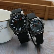 Fashion New Men Women Quartz Watches Large Dial Silicone Band Couples Quartz Wristwatch Waterproof Lovers' Watch Reloj de pareja цена и фото