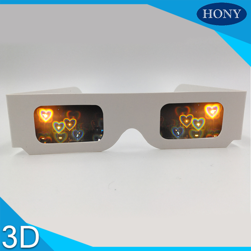 55d3cfdb763 10pcs Heart Long Star Star Smiles Diffraction Paper 3D Glasses ...