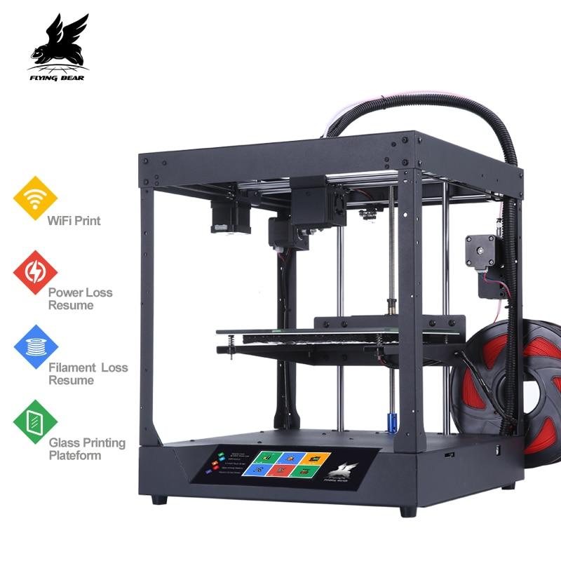 Новейший Flyingbear-Ghost 3d принтер Полный металлический каркас Высокоточный 3d Принтер Комплект imprimante impresora стеклянная платформа wifi