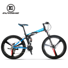 EUROBIKE Folding Bike 26 Inches Aluminum Frame 27 Speed  Gears Dual Suspension Mountain Bicycle