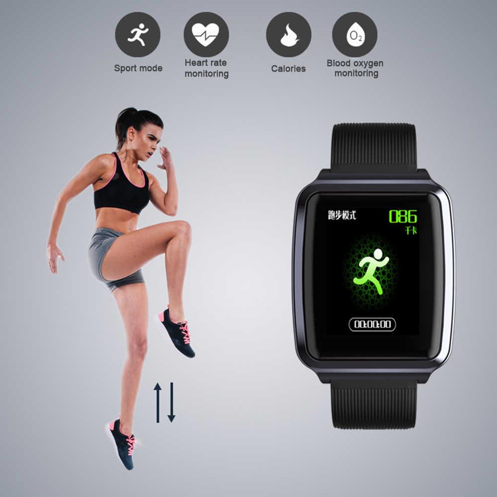 KY116 цветные полностью умные часы с сенсорным экраном фитнес-трекер IP68 водонепроницаемый монитор сердечного ритма кровяного давления спортивные умные часы