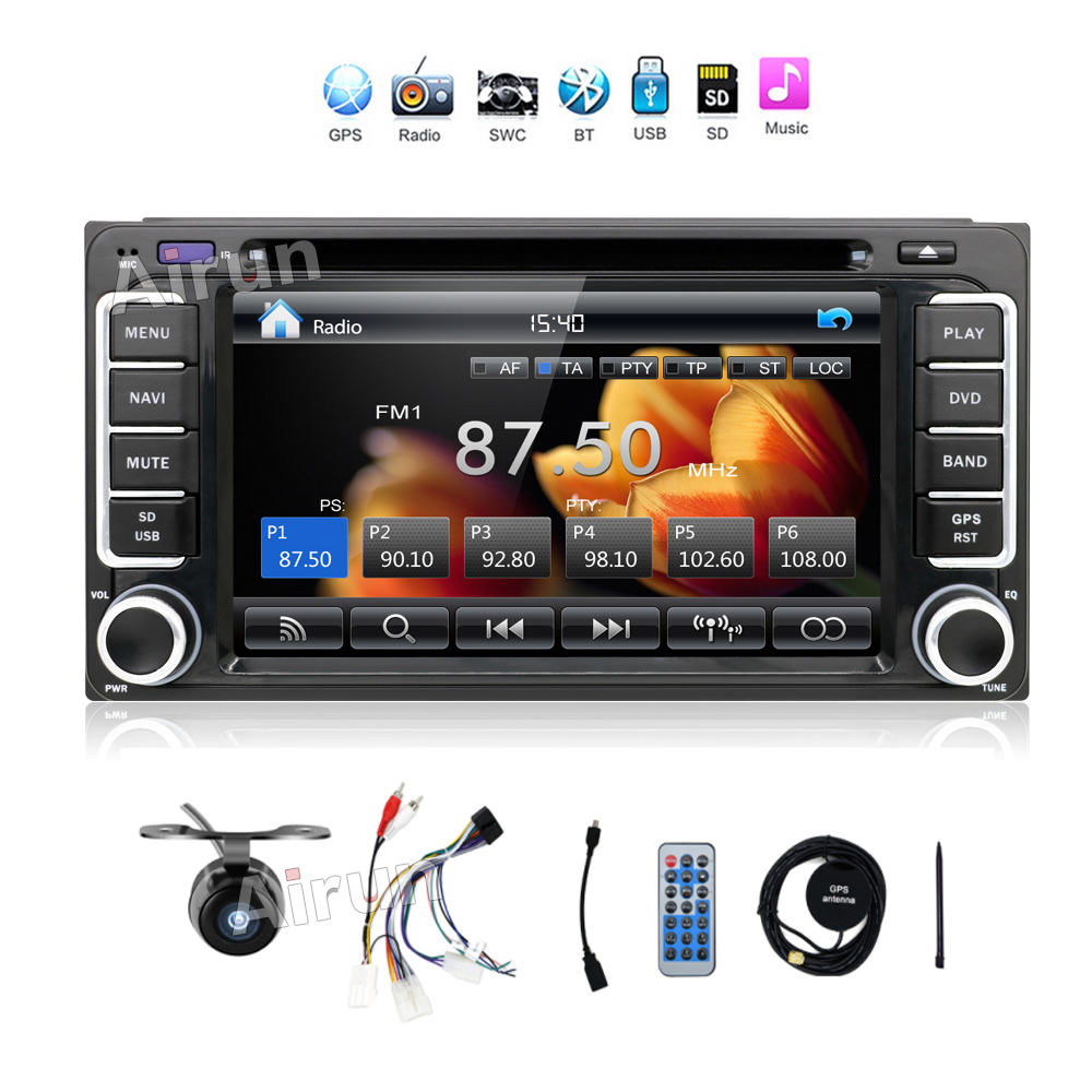 Quad Core Android 4 4 3G WIFI 7 Double 2DIN Car Stereo Radio MP5 Player GPS