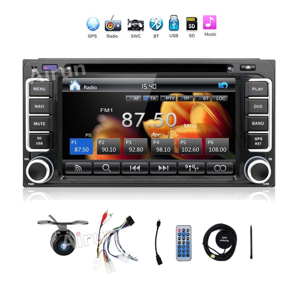 2016 новый 2 DIN DVD-плеер автомобиля для Toyota vios на старой Камри Прадо РАВ4 Прадо 2003-2008 с радио Видео Аудио