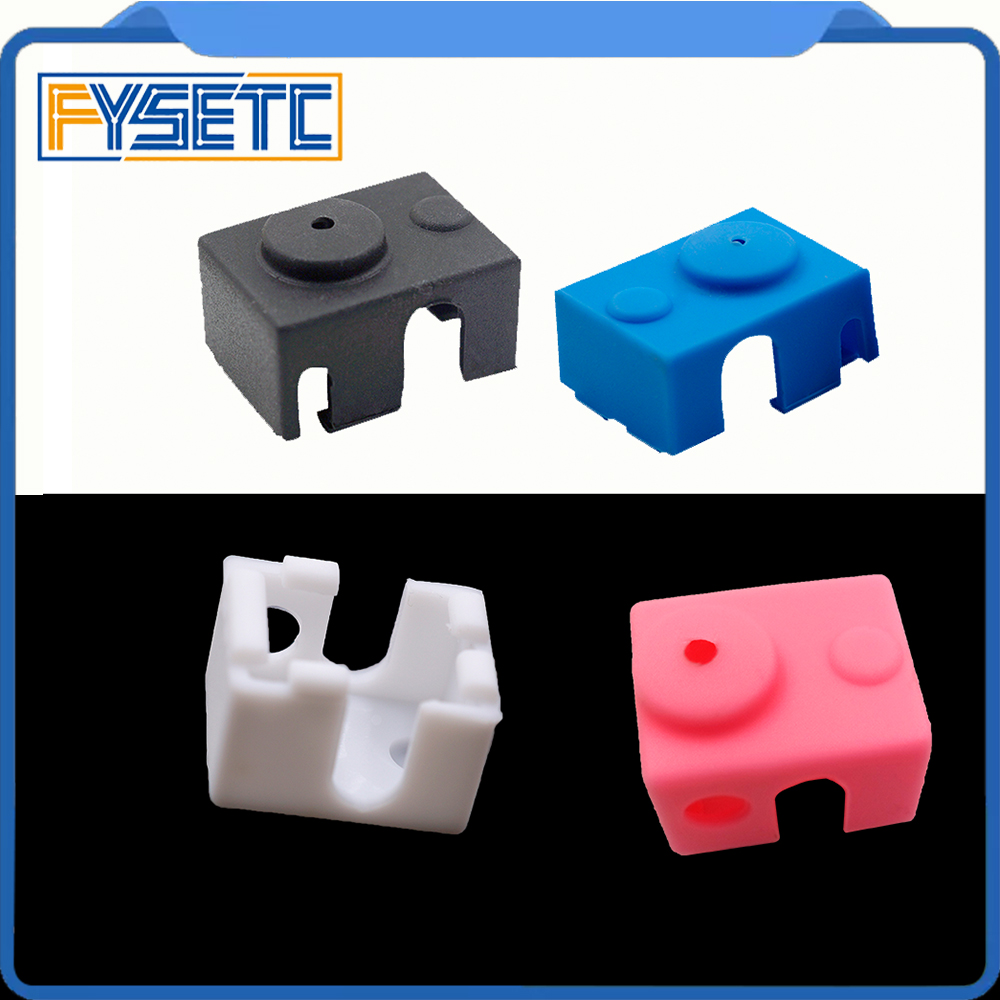 For E3D V6 Silicone Sock 3D Printer V6 PT100 Original J-head 1.75/3.0mm Heated Block Bowden Direct Extruder Prusa I3 MK3