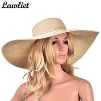 A330 6 7 Womens Church Kentucky Derby Wide Brim Straw Summer Floppy Sun Hat