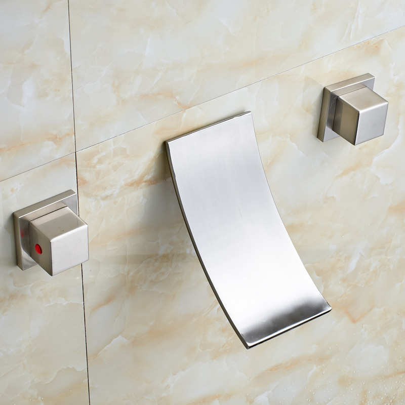Factory Direct Sale Bathroom Waterfall Basin Faucet Wall Mounted ...