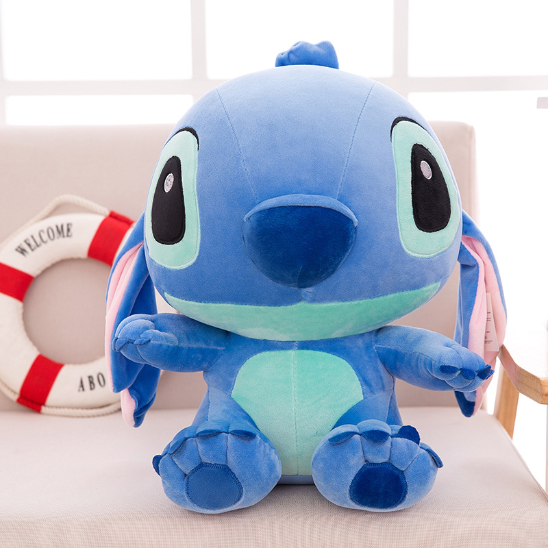 34 CM Kawaii Stitch  Plush toys with Long ears Blue and pink Dolls baby Soft Pillows  Stuffed kids gift 20cm plush cartoon red blue owl toy pendant stuffed dolls baby kids children kawaii gift toys home shop decoration triver