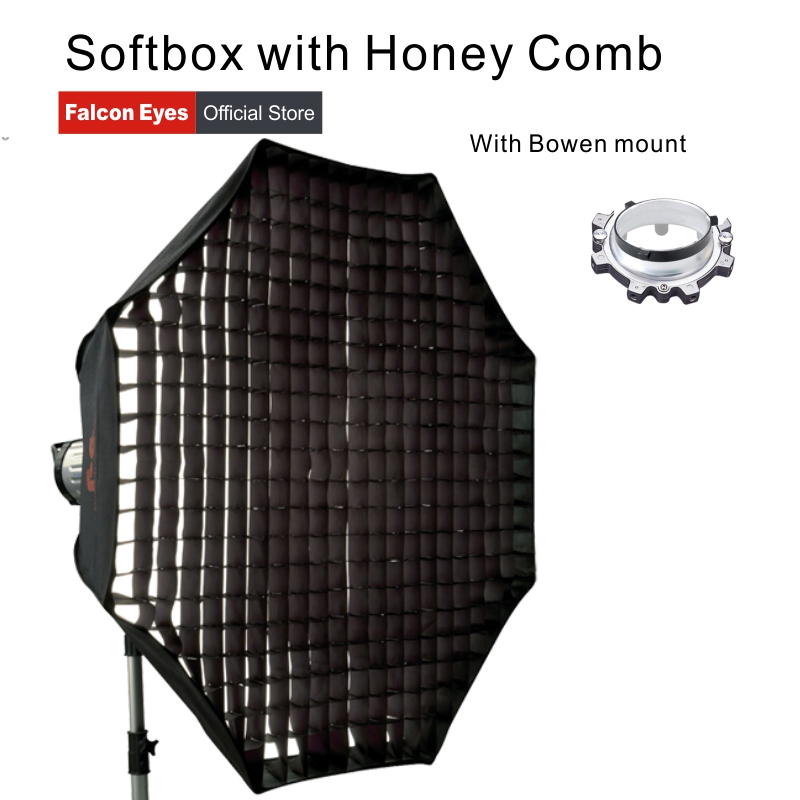 Falcon Eyes Portable Foldable Honey Comb Softbox 60/80/90/110cm Umbrella Diffuser Reflector for Photo Studio Flash Speedlite falcon eyes macro studio 60 led