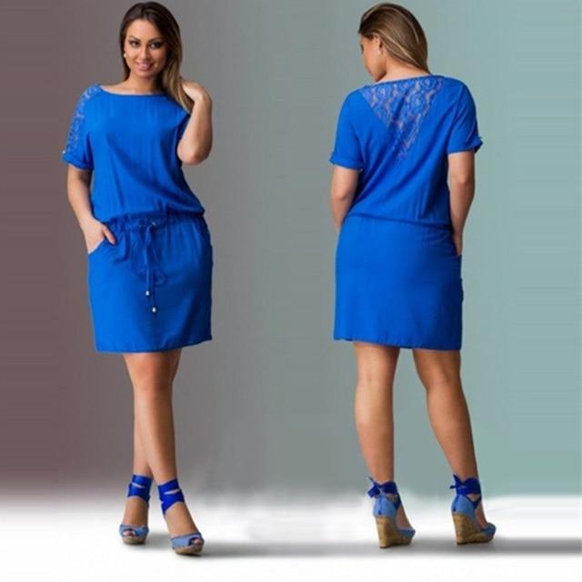 Women summer plus size dress clothing