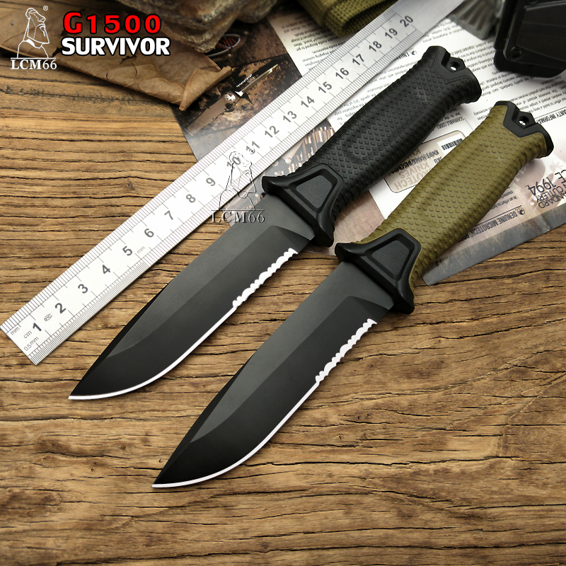 LCM66 G1500 Tactical Fixed Blade Knife,Black Coating Blade Camping Knife,EDC Outdoor Hunting Knives Tool,Survival Pocket Knives black blade ceramic knife set chef s kitchen knives 4 size