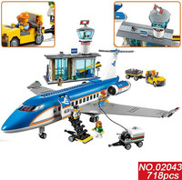 Bricks Toy 02043 Building Model Airport Terminal Assembly Pretend Play Educational Gifts Toys Legoingly Blocks City for Kids Boy