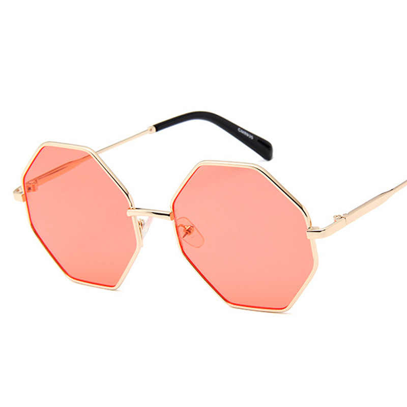 2019 New Women Luxury Sunglasses Brand Designer Small Polygonal Sunglass Square Shades Female Retro Octagon Sun Glasses UV400