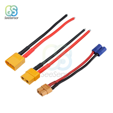 XT60 XT-60 Battery Male Female Connector Plug with Silicon 14 AWG Wire For RC Lipo Battery цена
