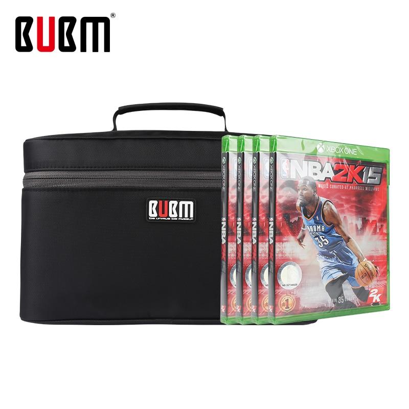 BUBM Bag Forgame Discsgame CD Storage Case Black 20 Pcs Game Disc Bag Portable Game Carrying Disc Case