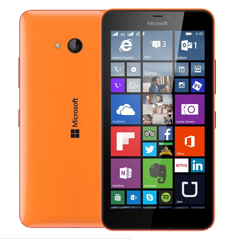 original 100 Original Microsoft Lumia 640 8MP Camera NFC Quad core 8GB ROM 1GB RAM mobile