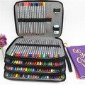 PU кожаный школьный пенал 184 отверстий большой емкости цветной пенал коробка многофункциональный пенал для художественных принадлежностей ...