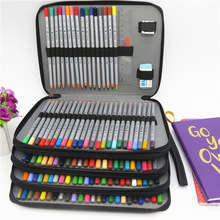 Pencil-Case School Art-Supplies Multi-Functional Large-Capacity Colored for Gift 184-Holes