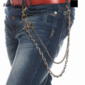 New Men 2 Strands Antique Copper Links  Wallet Chains Spider Star Of David Keychain Hip Hop Punk Jeans Chain Double Clasp KB74