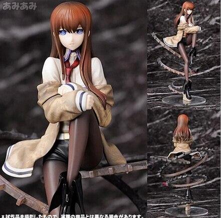 ФОТО NEW hot 24cm Steins Gate Makise Kurisu Christina action figure toys collection Christmas gift doll