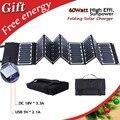Alta Eficiencia 23.5% 60 W Sunpower plegables panel solar portátil cargador solar para el ordenador portátil/tablet/batería de coche/teléfonos celulares
