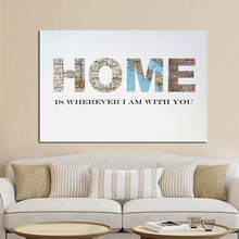 Minimalist Home Qoutes Watercolor Canvas Painting Decorative Poster Print Wall Picture for Living Room Cuadros Decor No frame(China)