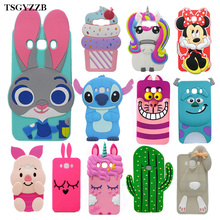 For Samsung J7 2016 Case Silicone 3D Cartoon Soft Phone Cover For Samsung Galaxy J7 2016 J710 J710F Cute Unicorn Cat Funda Coque все цены
