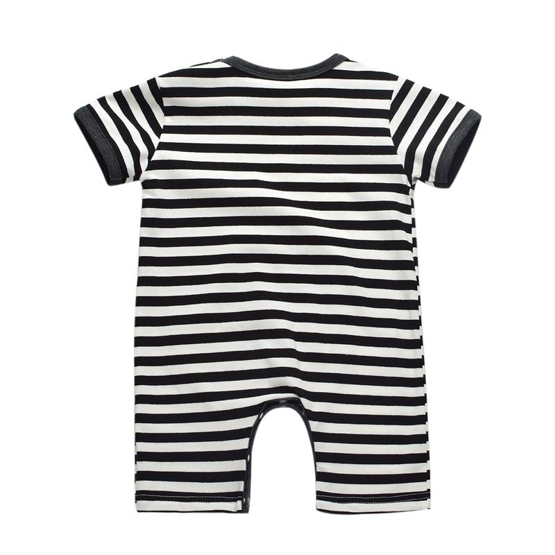 Zomer Zuigeling Jongen Katoen Rompertjes Casual Gestreepte Pasgeboren - Babykleding - Foto 3