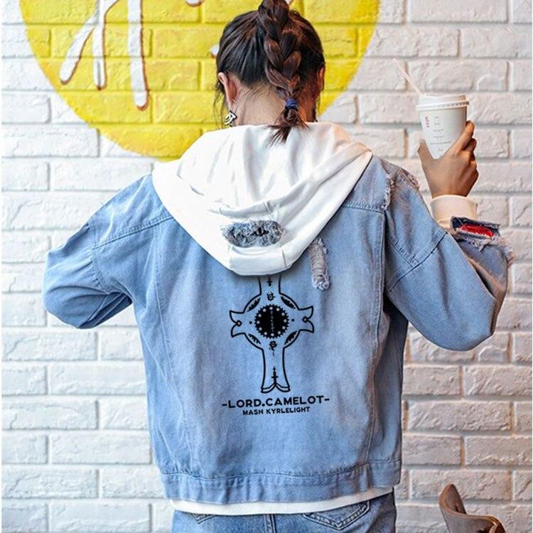 Anime Fate/Grand Order Jeans shielder Coat Teen Boy Girls Autumn Winter Casual Jacket Hooded Sweatshirt Fashion Denim Outwear